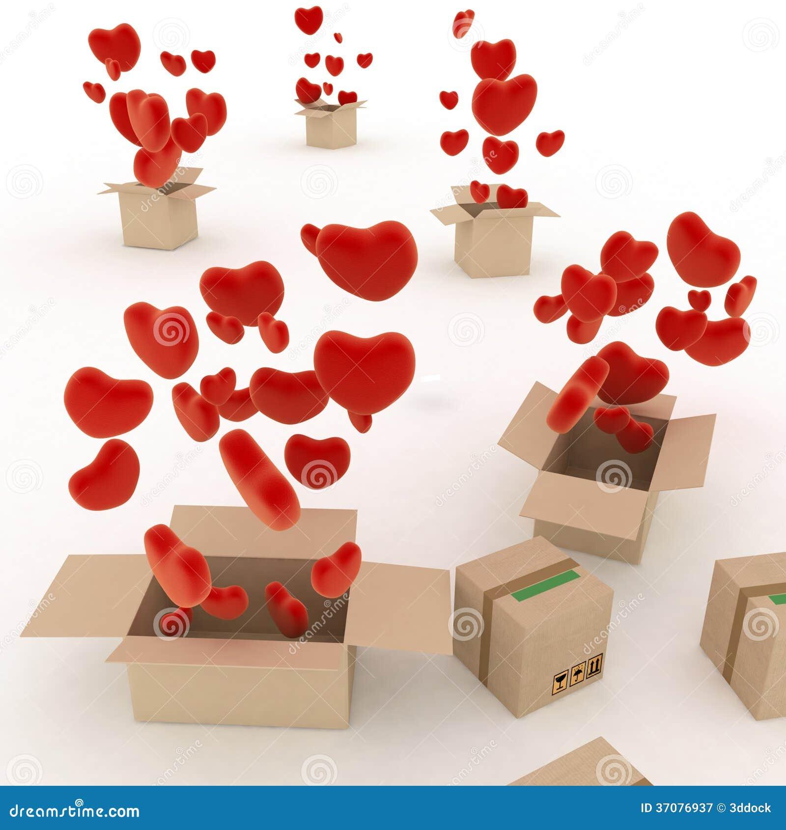 Download Serca lata z pudełek ilustracji. Ilustracja złożonej z joyce - 37076937