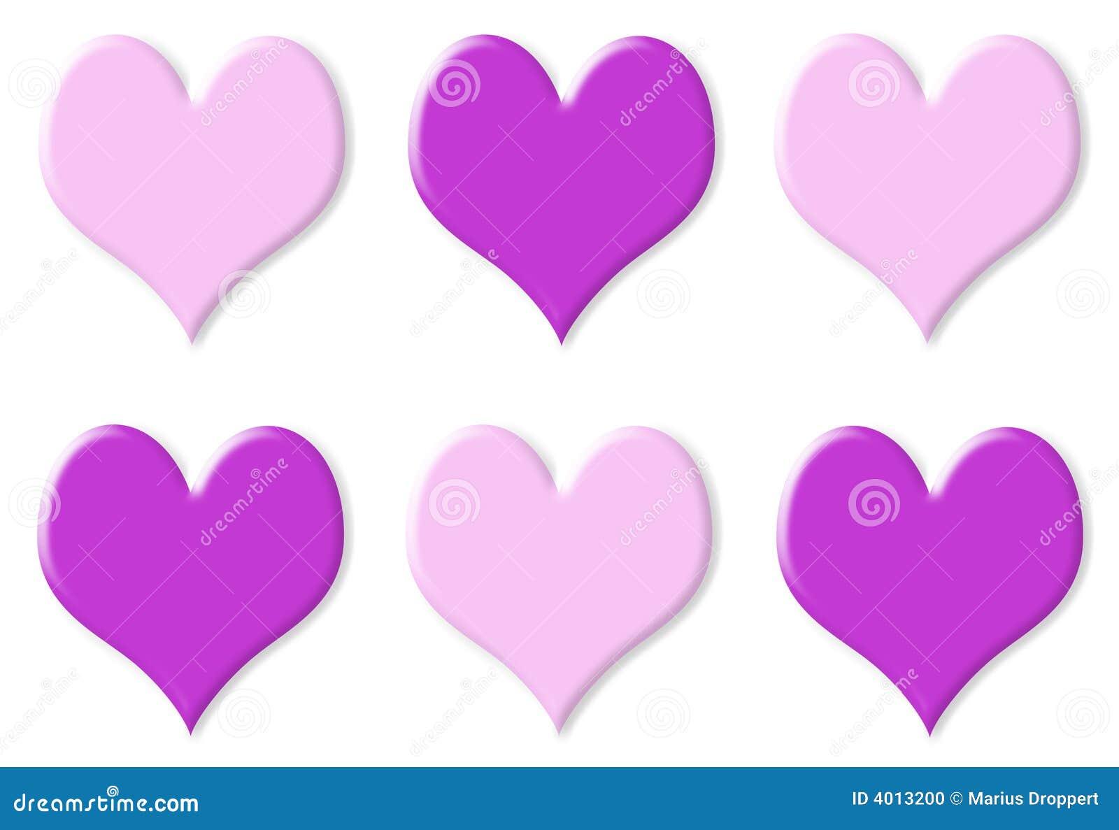 Serca różowią purpurowy 6