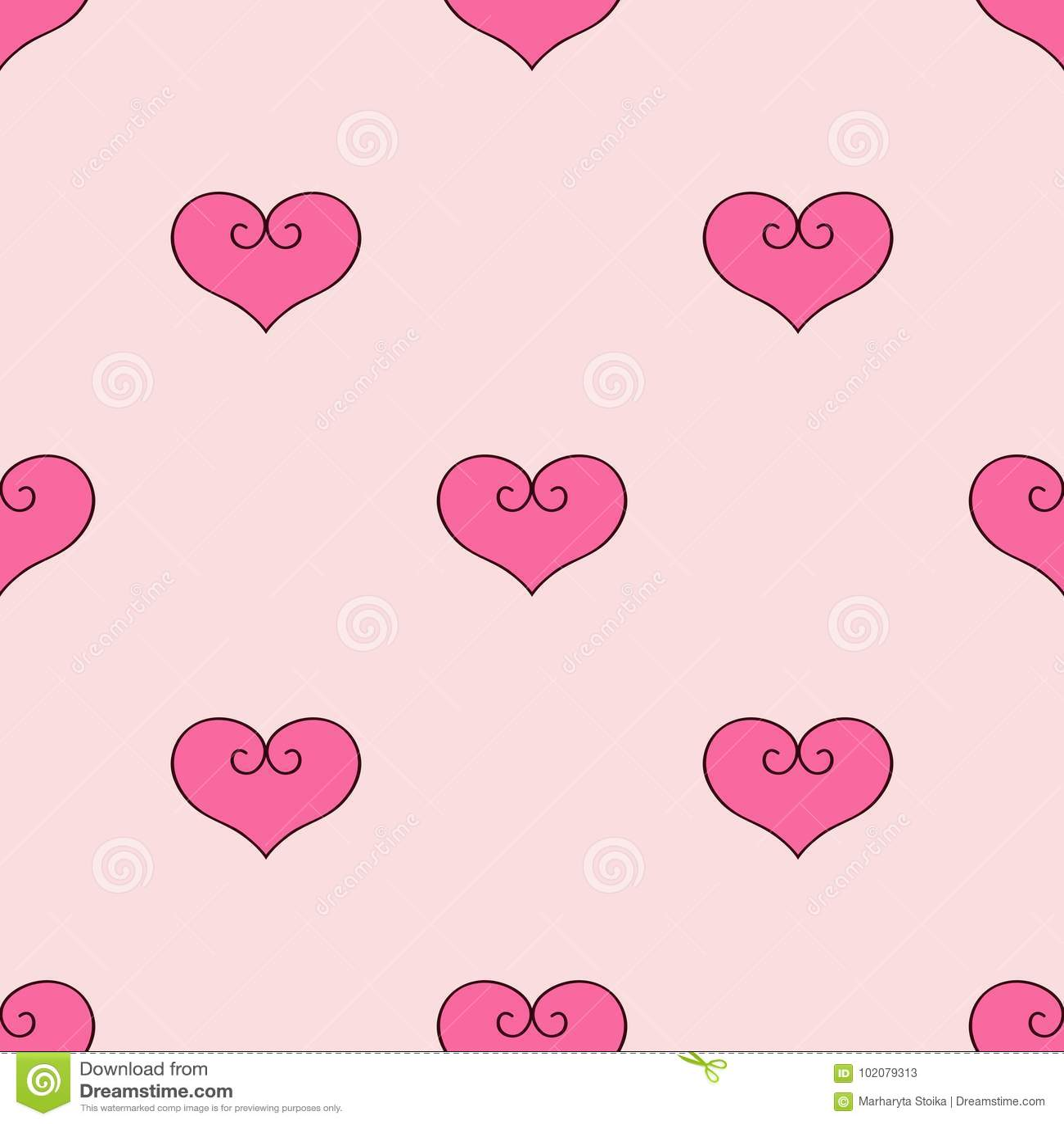 Serca różowy tło Tkanina scrapbooking