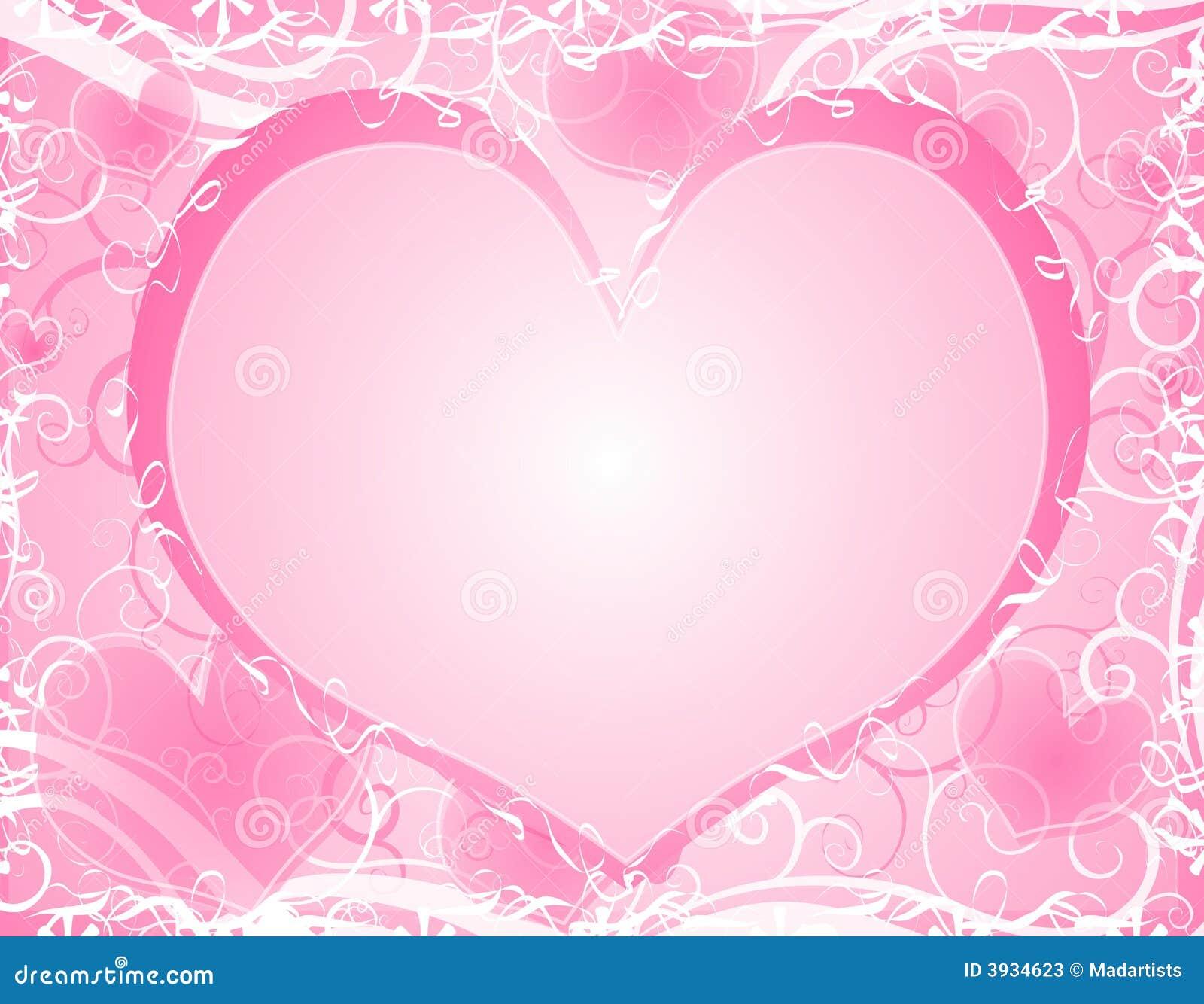 Serca tła światło ramowy różowa miękka
