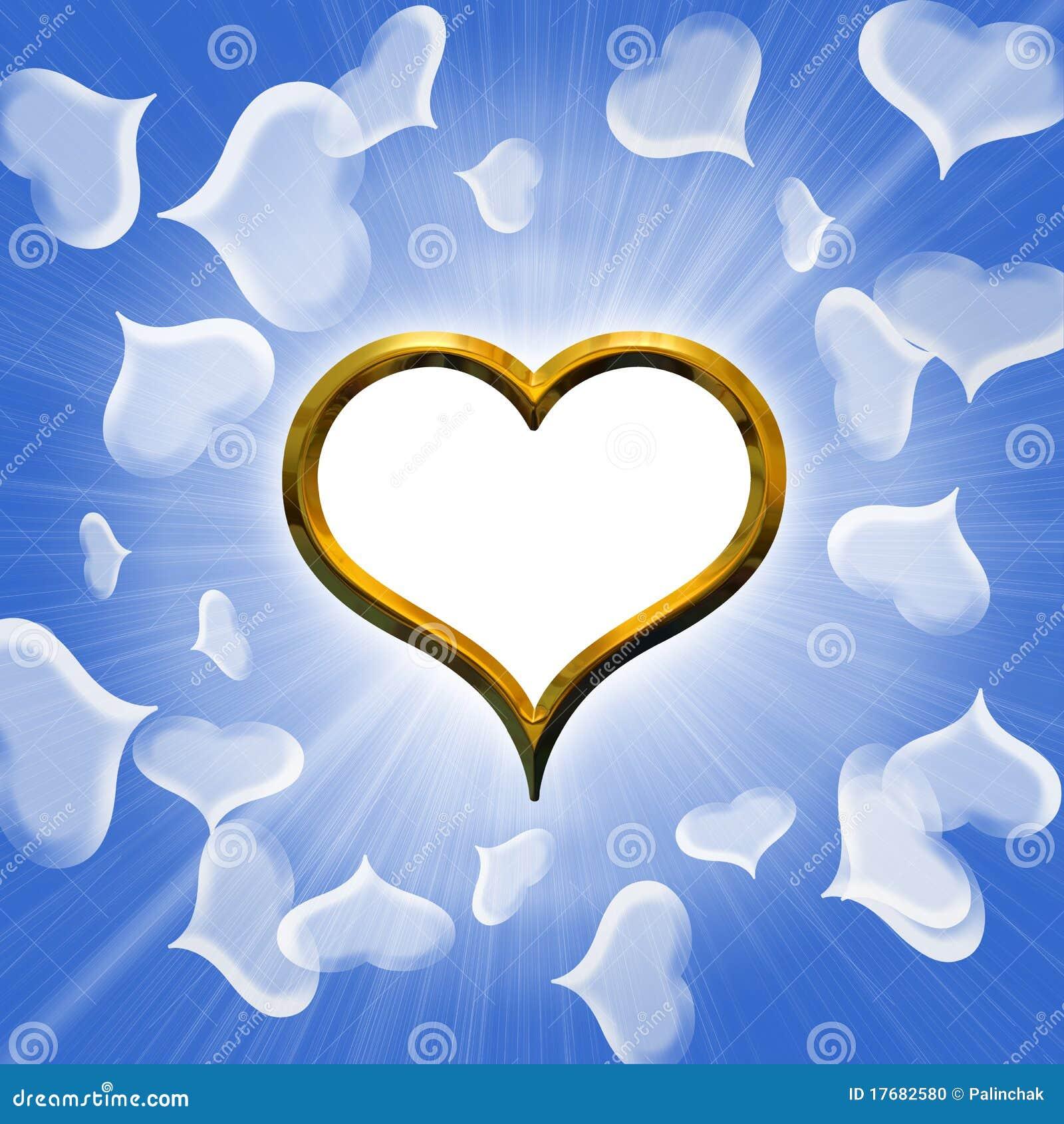 Serca złoty valentine s