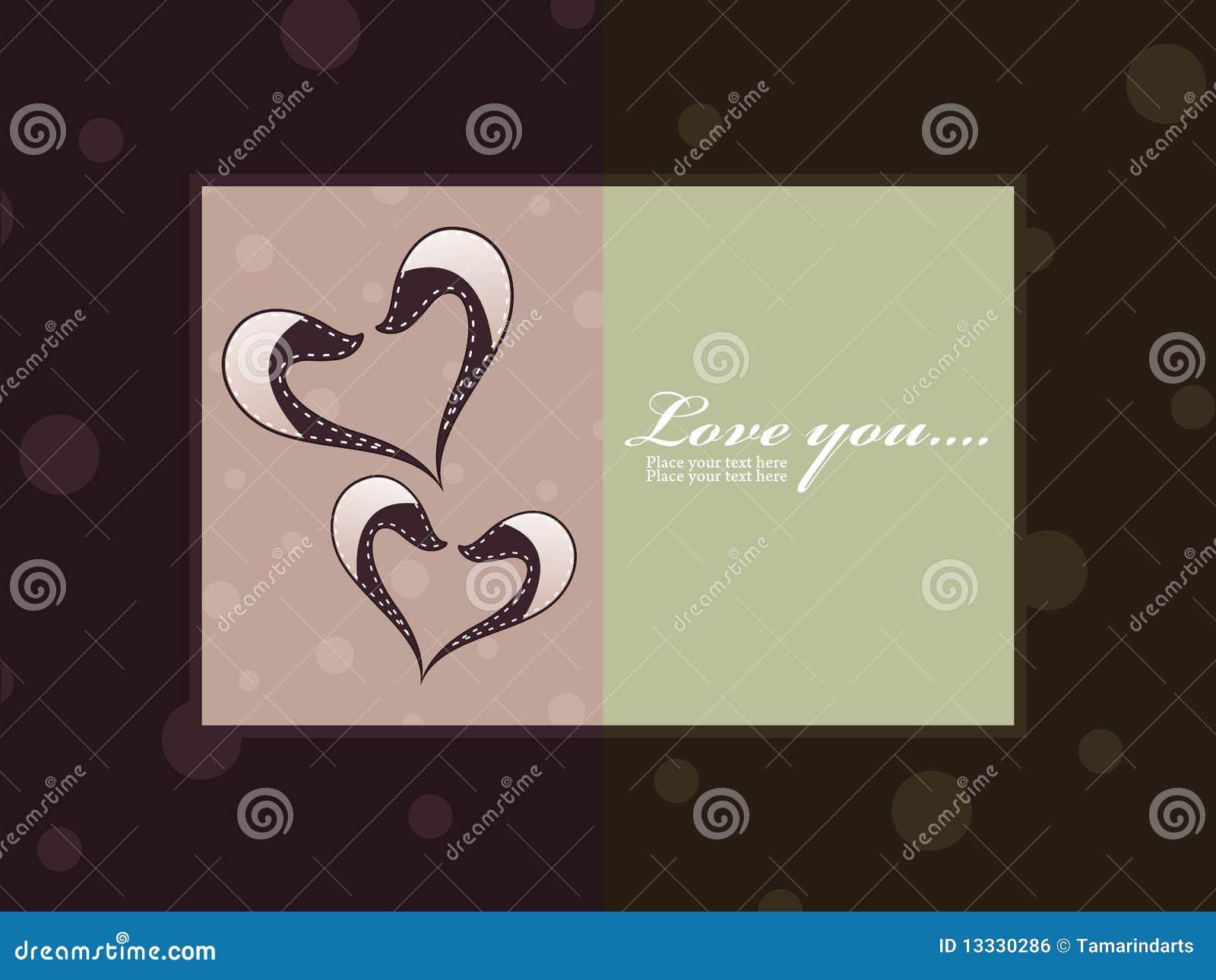 Serce abstrakcjonistyczna karciana miłość