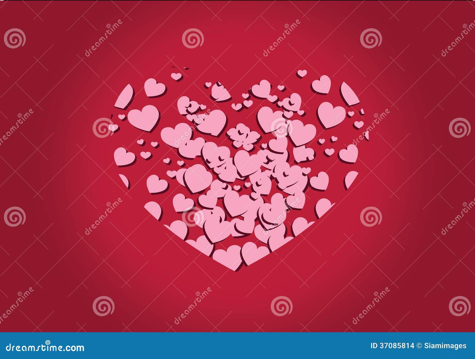 Download Serce dla walentynka dnia ilustracji. Ilustracja złożonej z data - 37085814