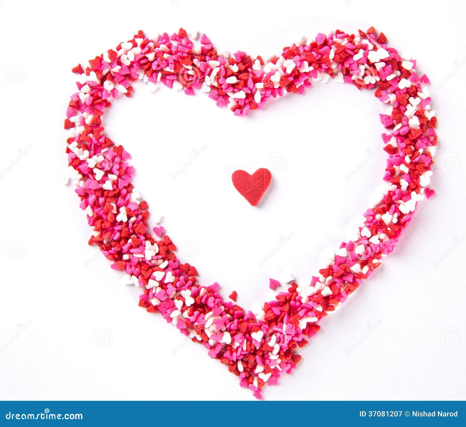 Download Serce kształtni cukierki obraz stock. Obraz złożonej z valentine - 37081207