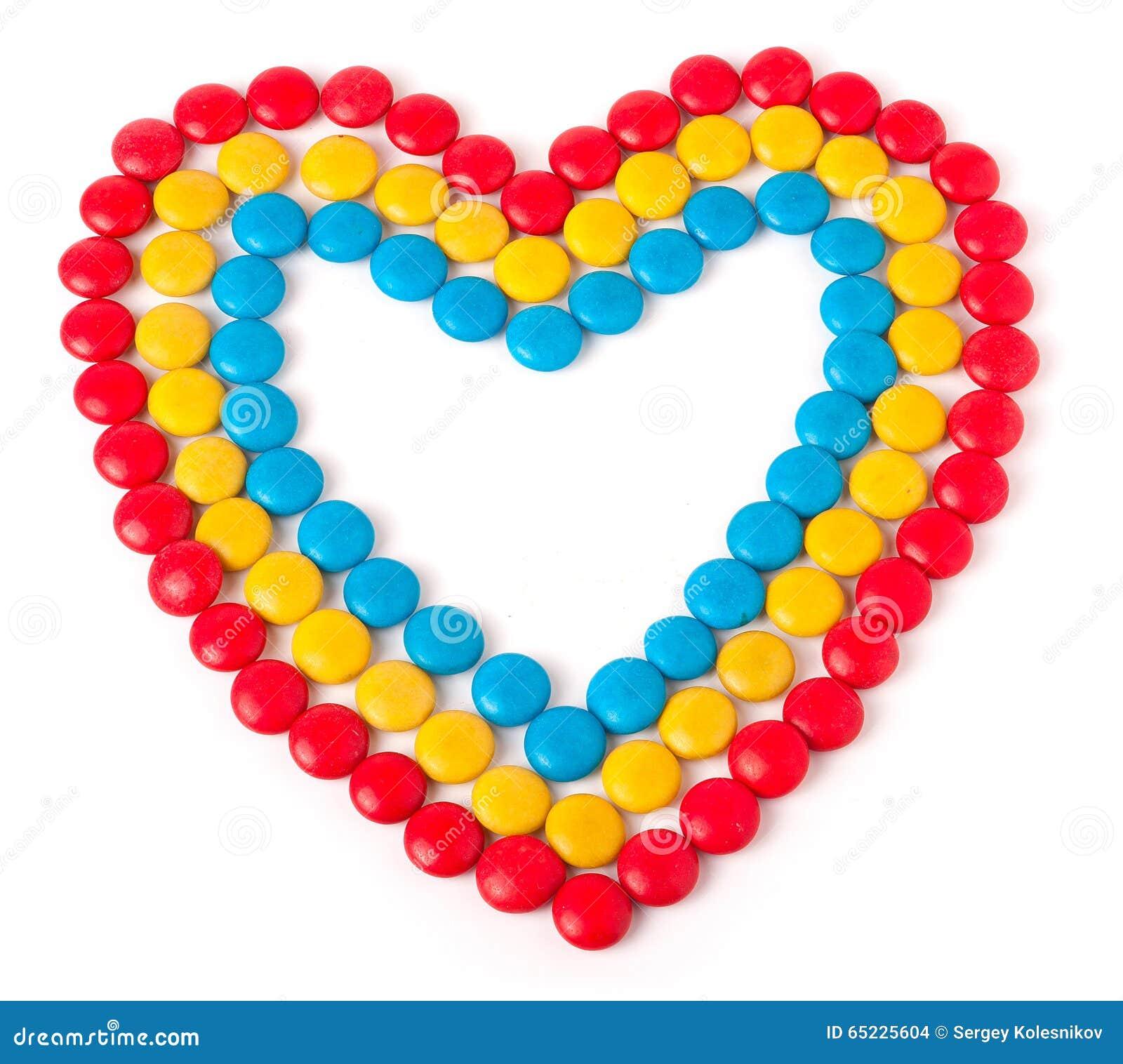 Serce robić barwiący cukierki round