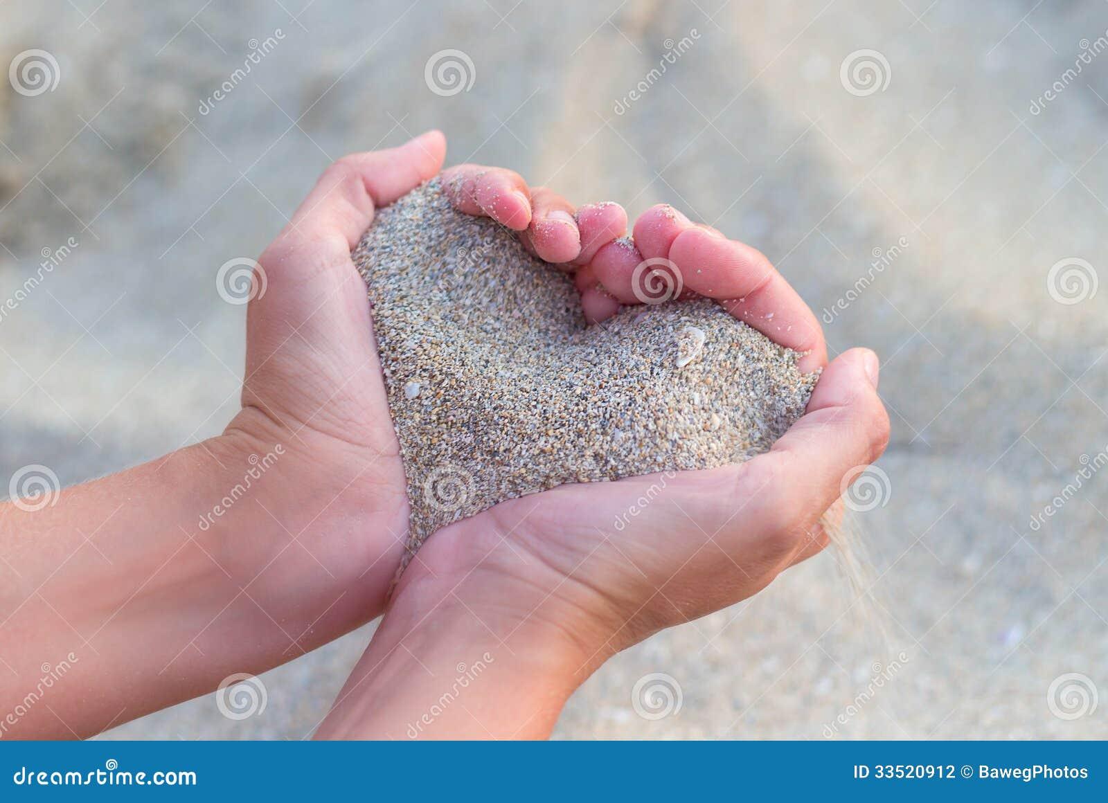 Serce robić piasek