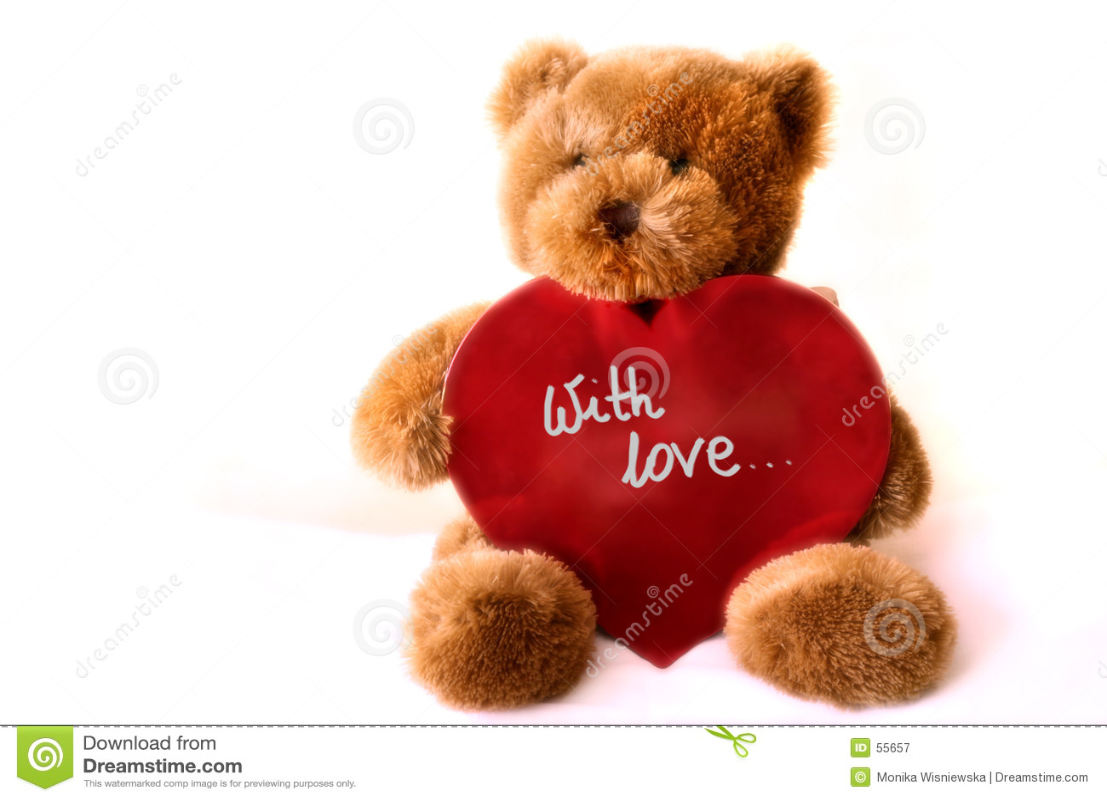 Serce teddybear