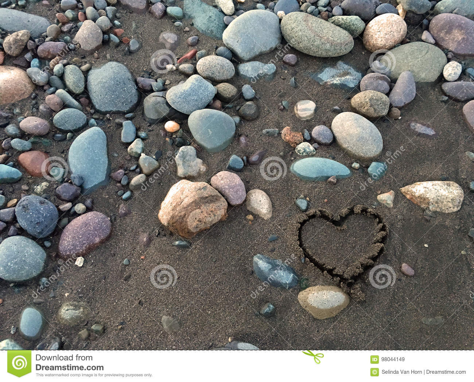 Serce w piasku