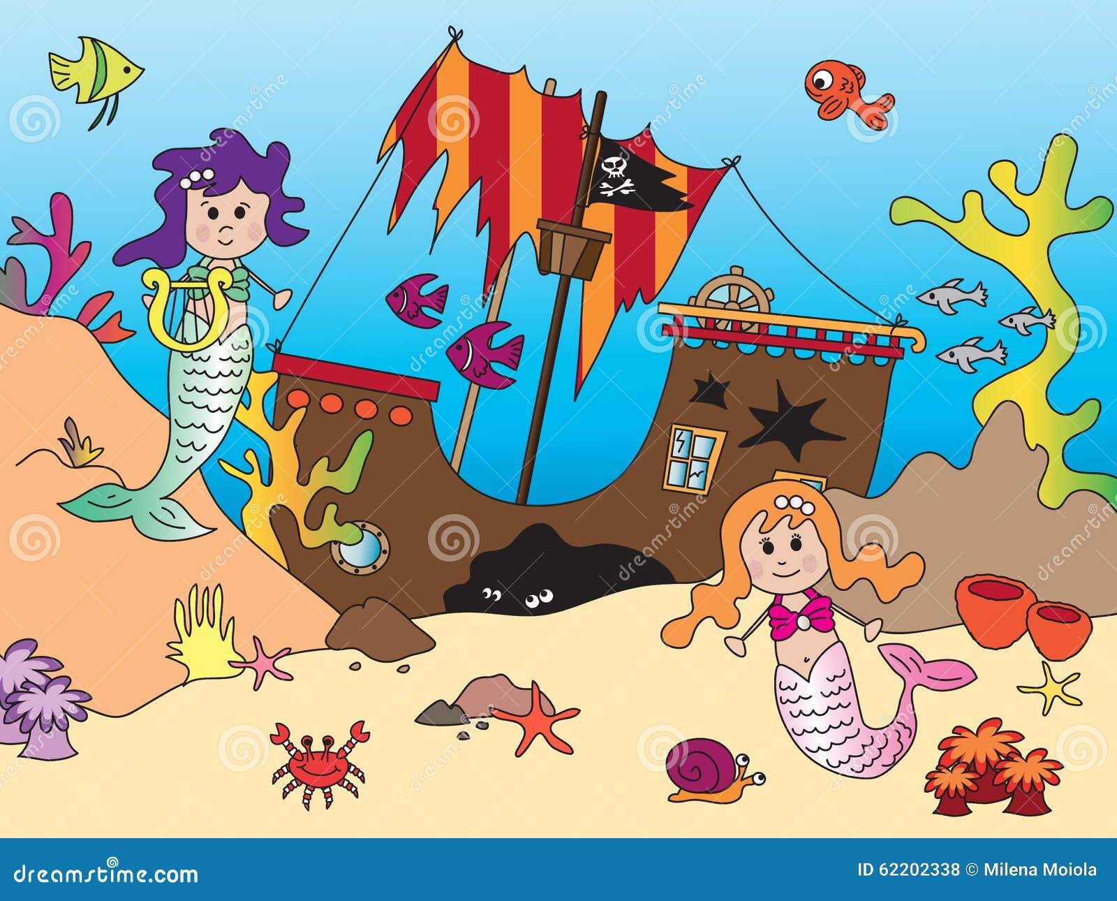 Sereias no oceano