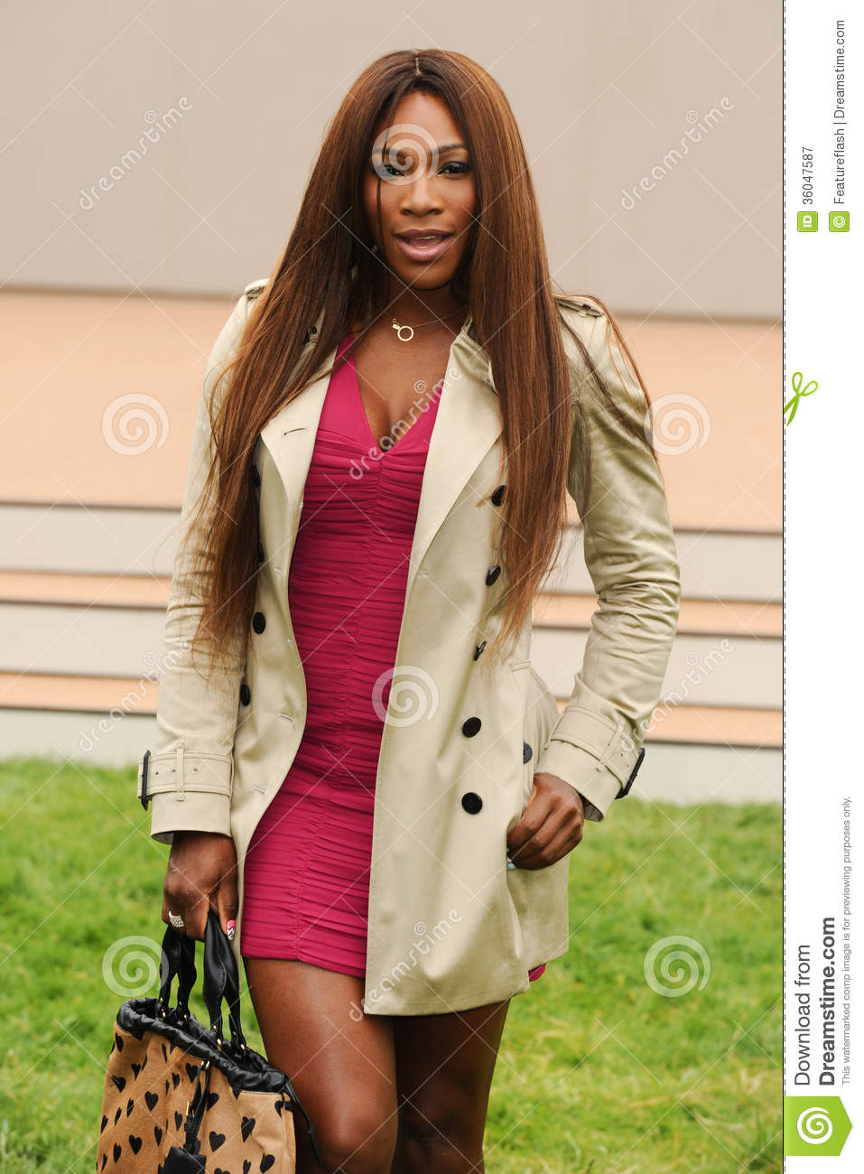 4a79993a0c21 Serena Williams arriving for the Burberry Prorsum Menswear show as part of  London Collection Men SS14