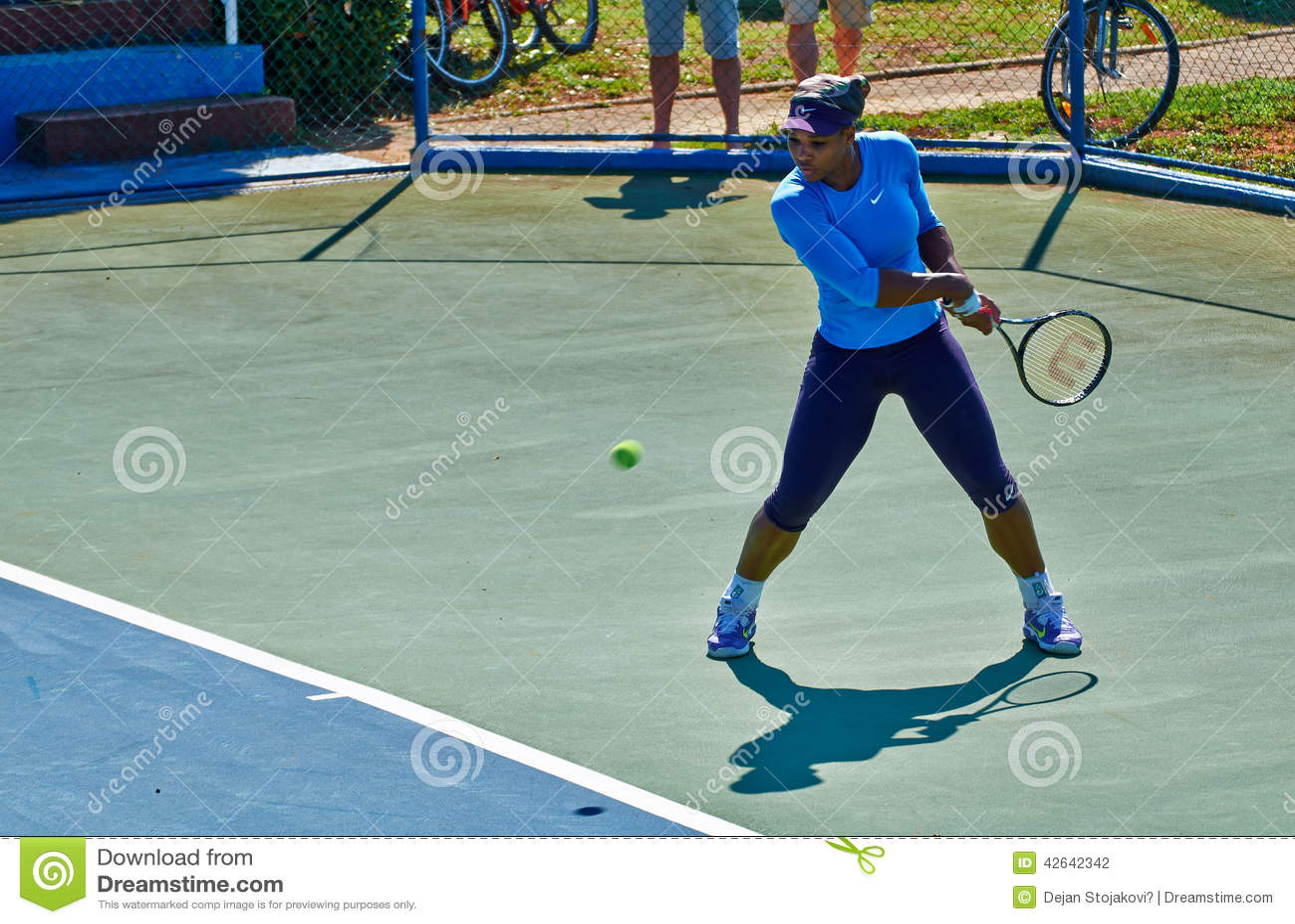 Serena Williams In Umag, Kroatië