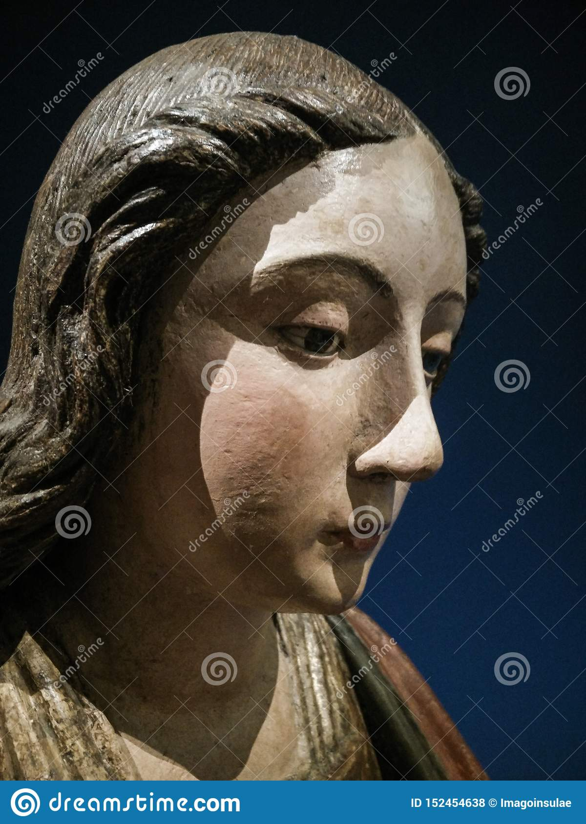 Italy. Artistic heritage. Madonna and Saint Joseph by Pietro and Giovanni Alamanno. Detail