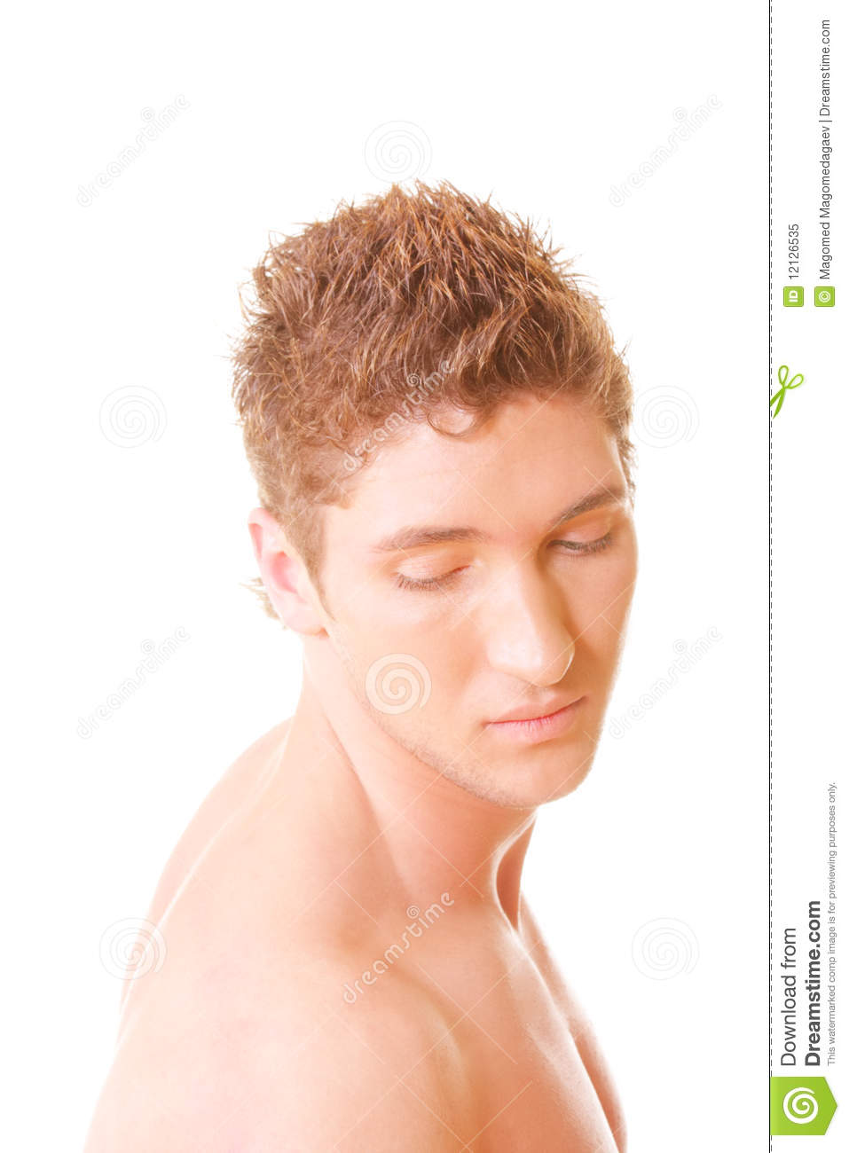Serene Guy Turned Head Sideview Royalty Free Stock Photo
