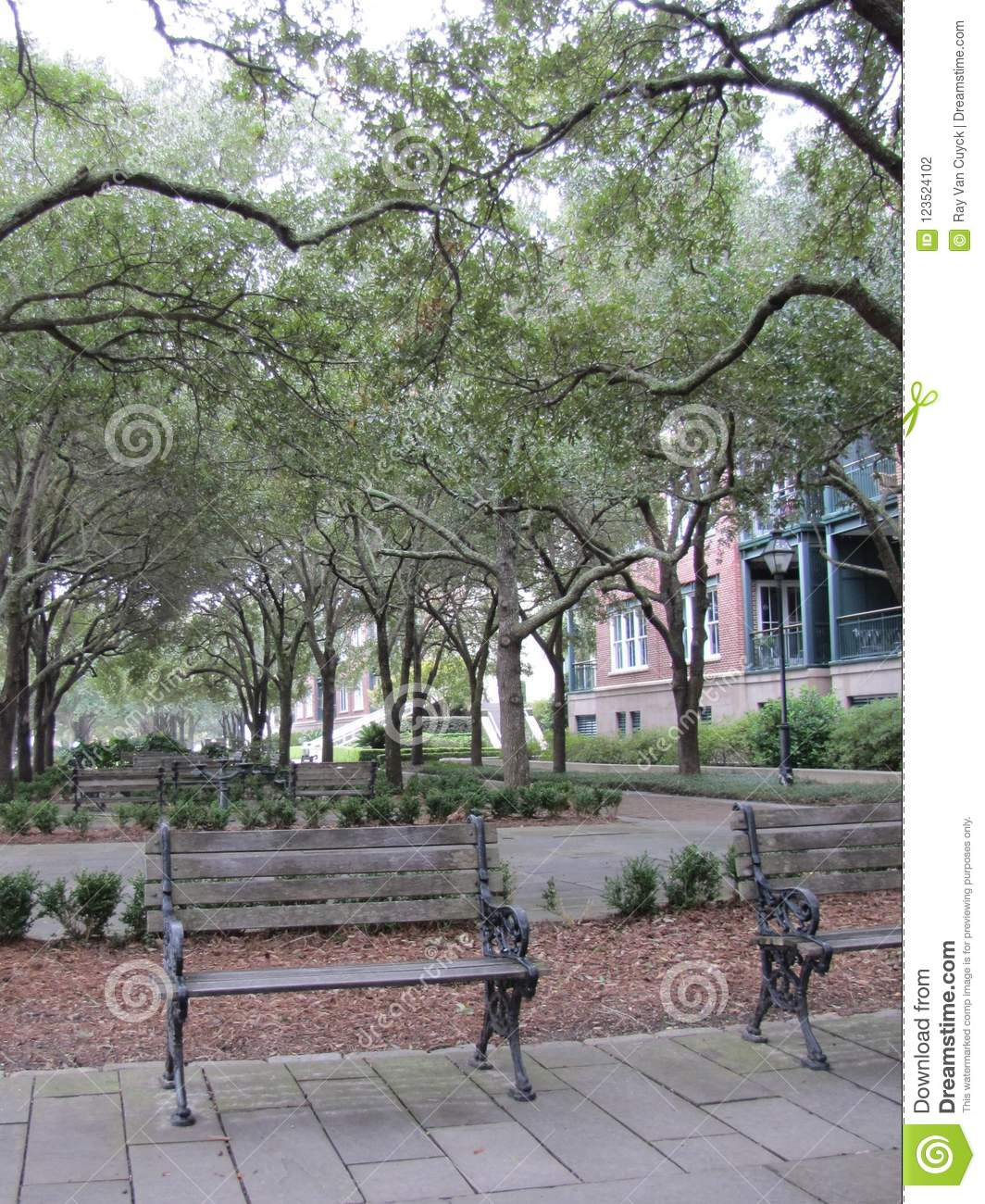 Miraculous A Serene Park For Relaxing Stock Photo Image Of Decorative Squirreltailoven Fun Painted Chair Ideas Images Squirreltailovenorg