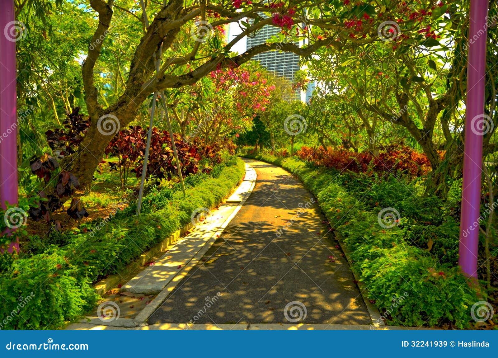 Serenidad tropical del jardín