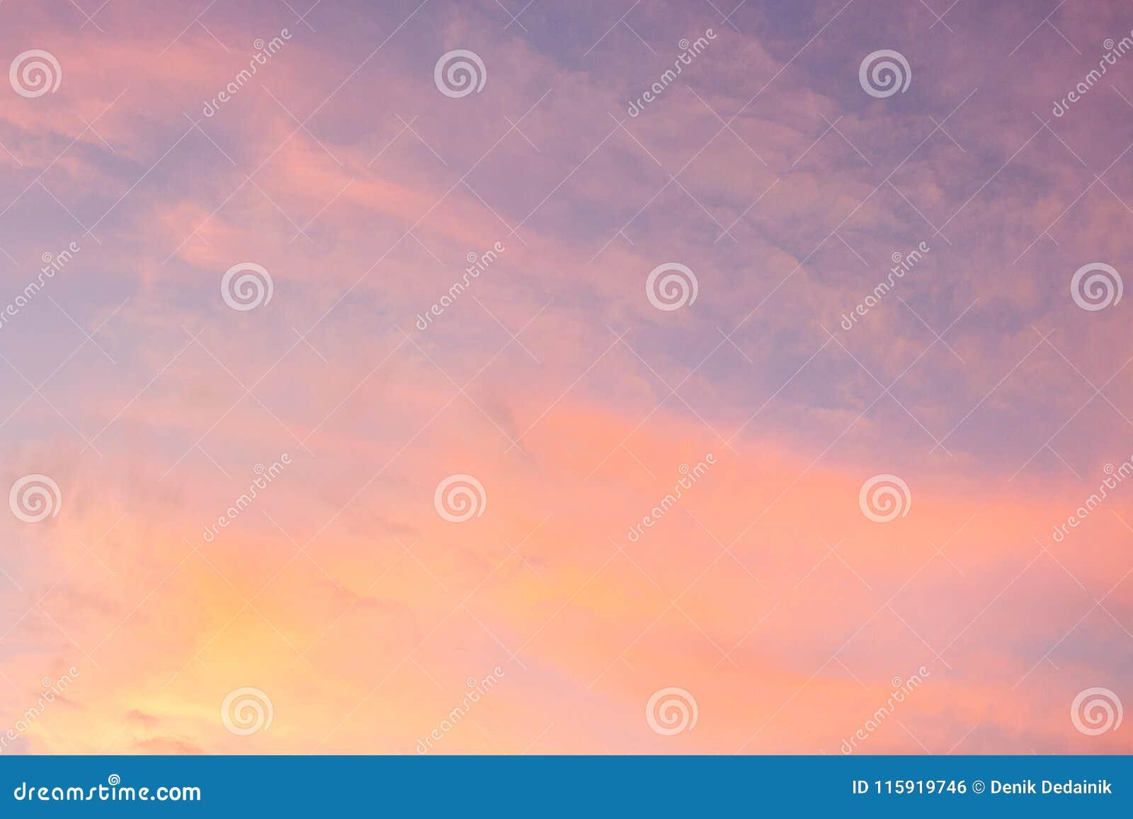 Serenity Sky Stock Photo Image Of Purple Blue Cloud 115919746
