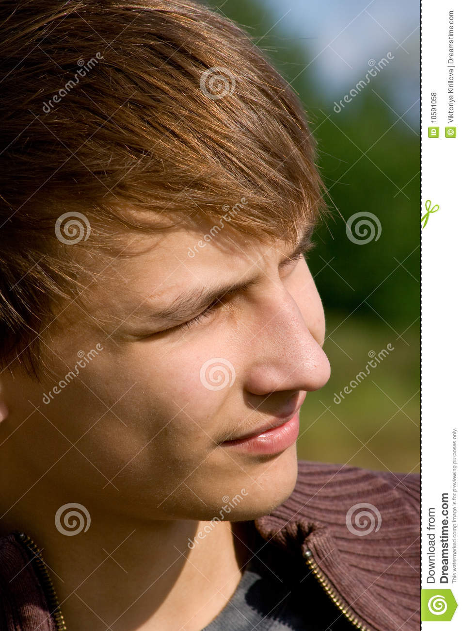Download Serenity young men stock photo. Image of portrait, summer - 10591058