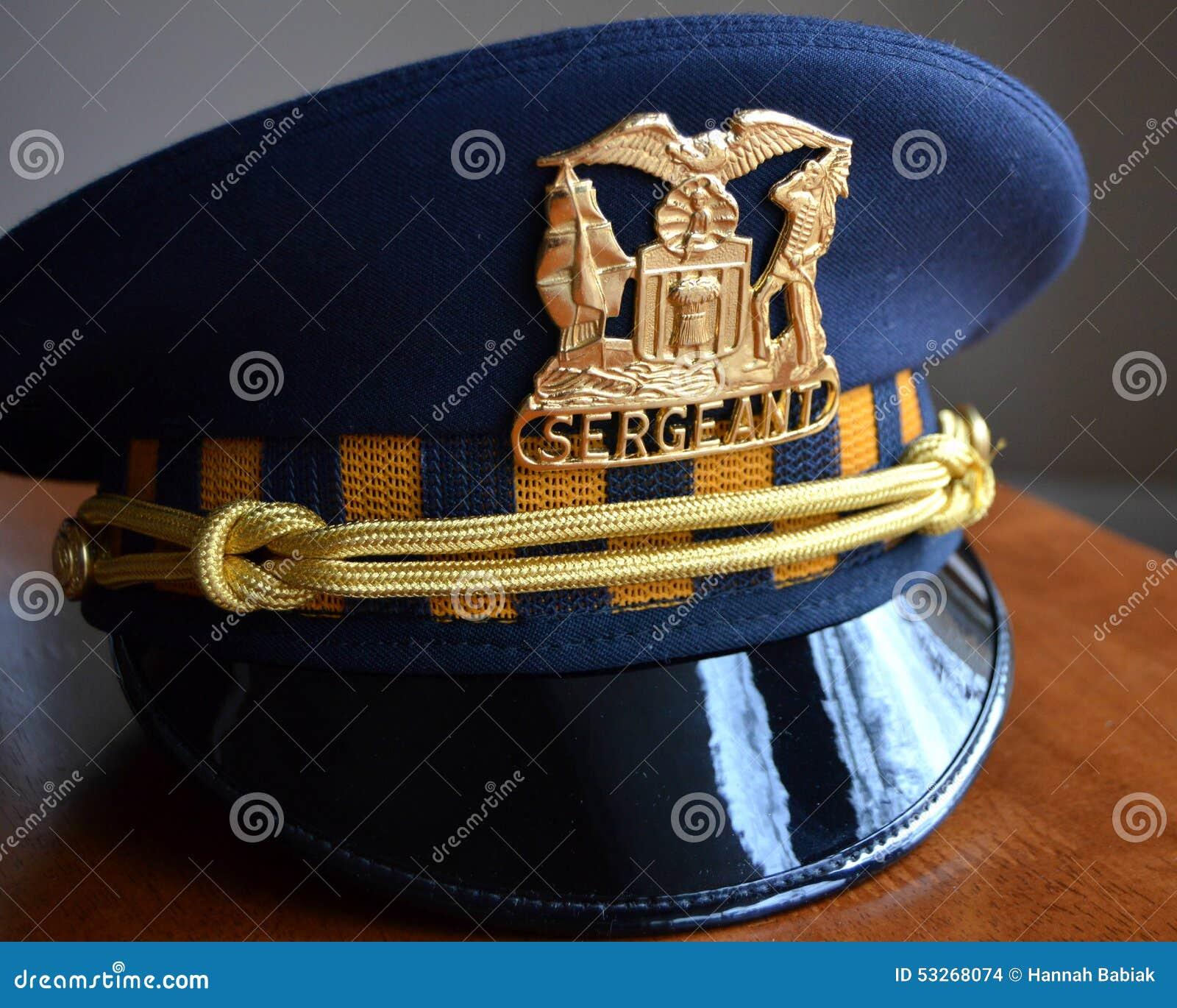 Sergeant Police Hat Stock Photo Image 53268074