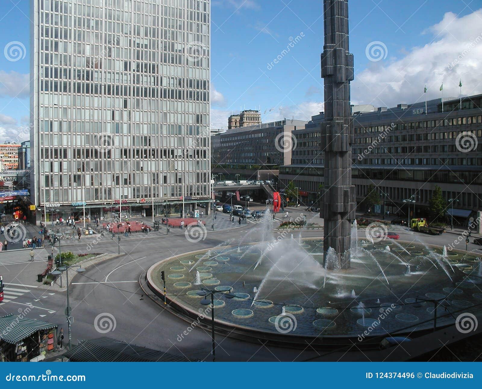 caf8acbf8d1 Sergels Torg Square In Stockholm Editorial Photo - Image of landmark ...