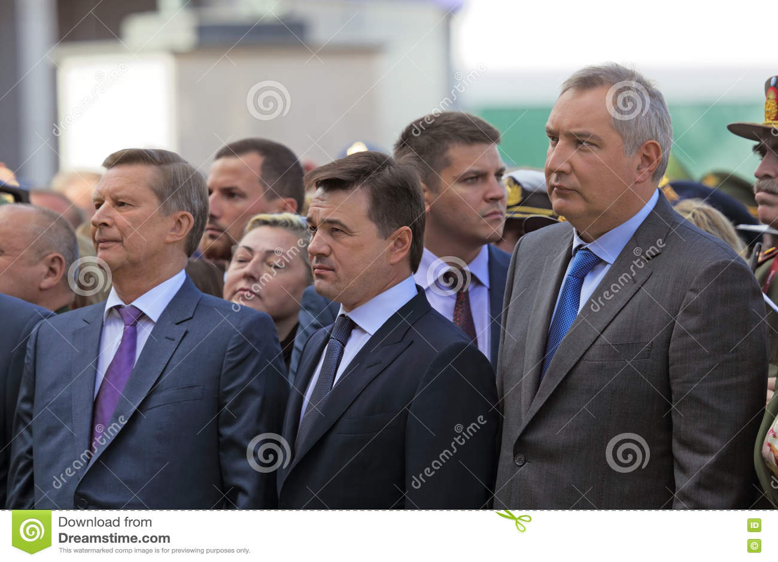 Sergey Ivanov, Andrey Vorobyov et Dmitry Rogozin