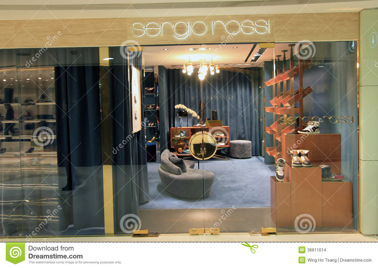 quality design f791a 65626 Sergio Rossi Shop In Hong Kong Editorial Stock Image - Image ...