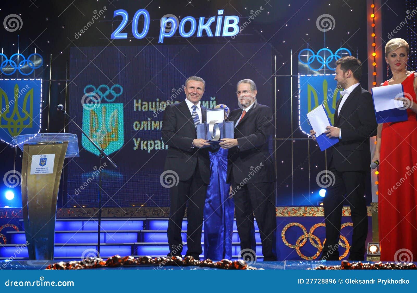 Serhiy Bubka und Jacques Rogge