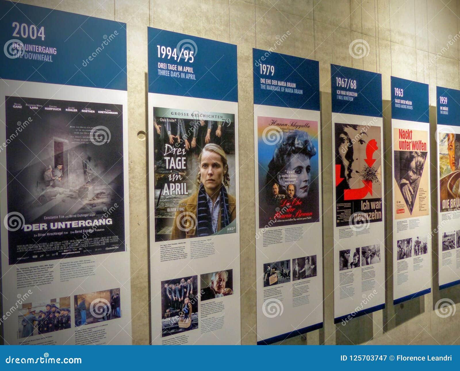 Seria plakaty filmy dotyczy drugi wojnę światowa w terenoznawstwie terror Berlin Niemcy