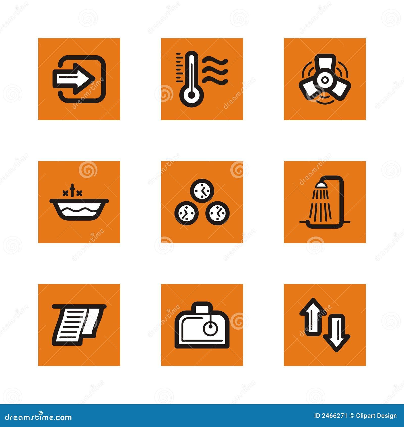 Serie anaranjada del icono