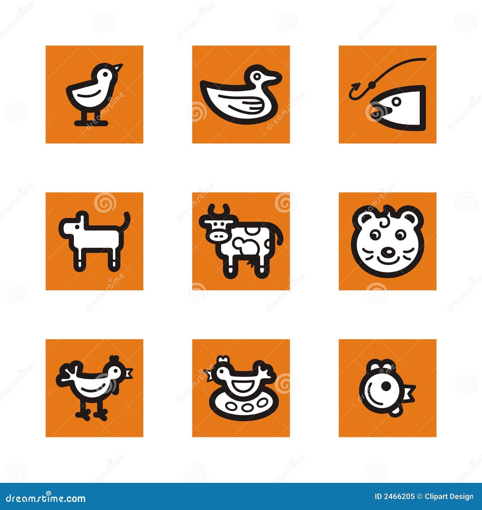 Serie arancione dell icona