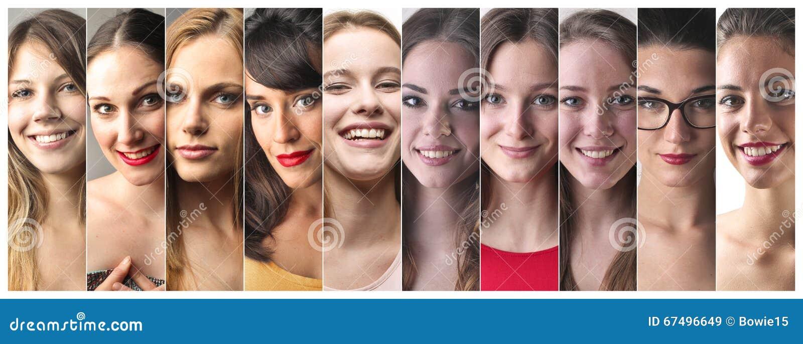 Serie av kvinnaframsidor
