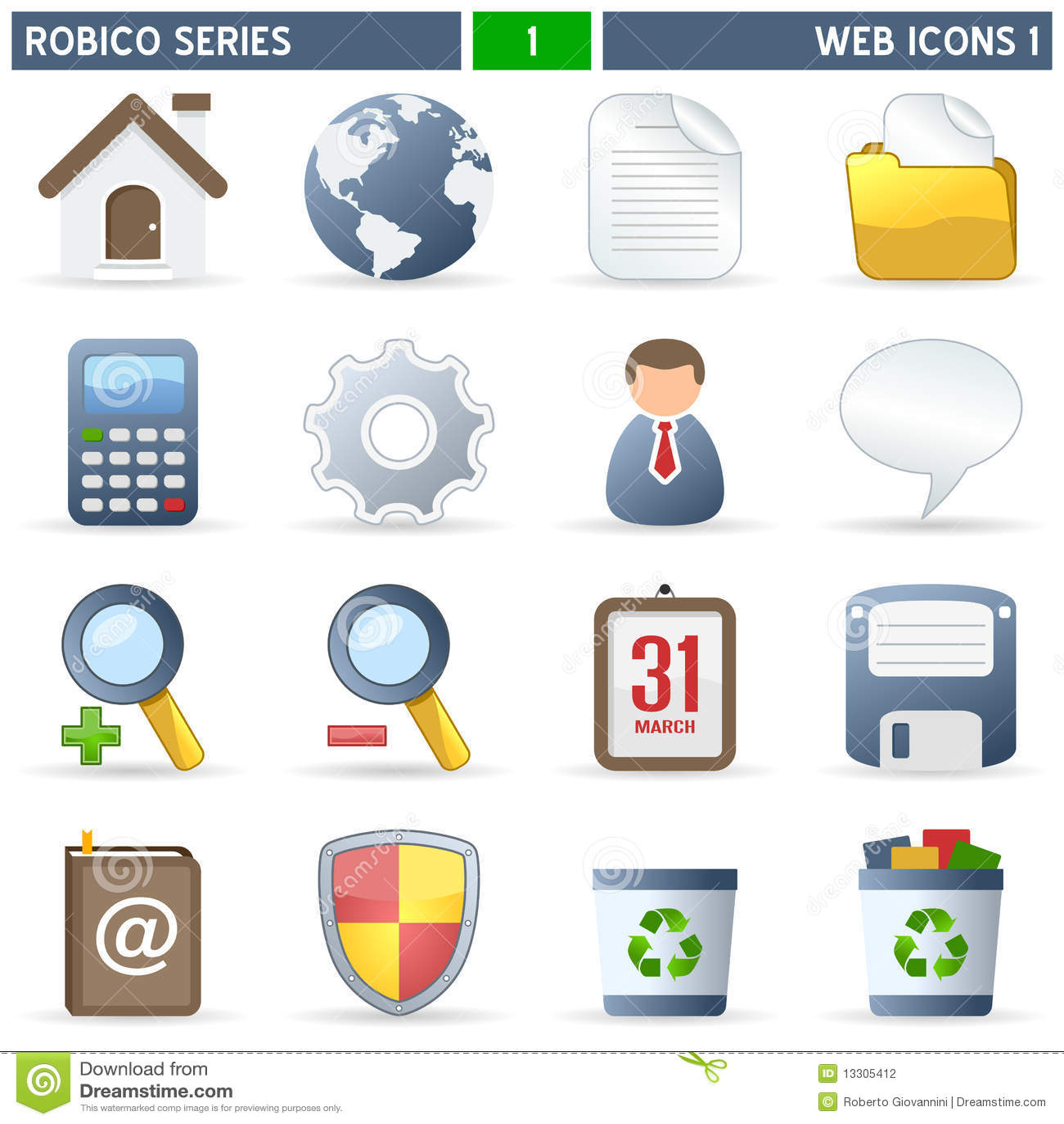 Serie de Robico de los iconos del Web [1] -