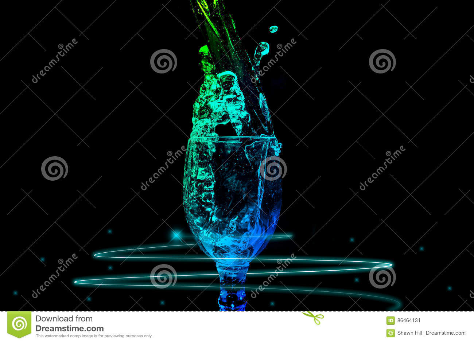 Serie del chapoteo del agua - color de Mini Wine Glass Steady Energy