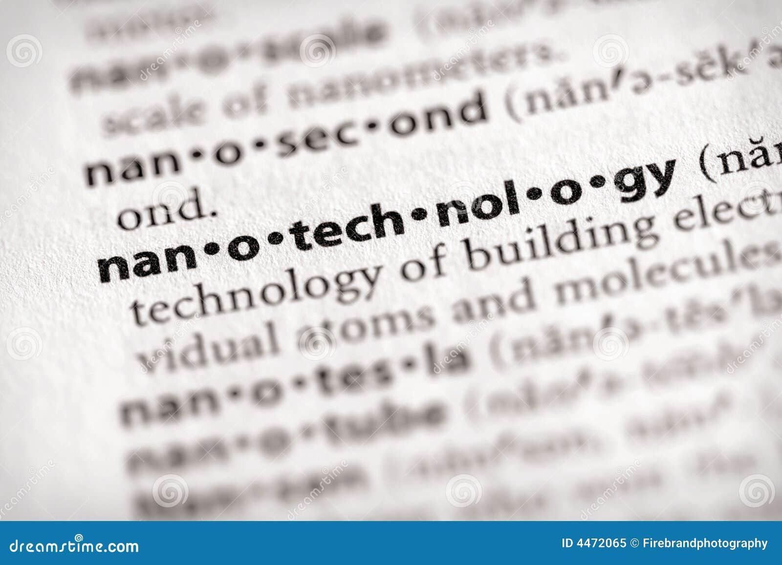 Serie del diccionario - ciencia: nanotecnología