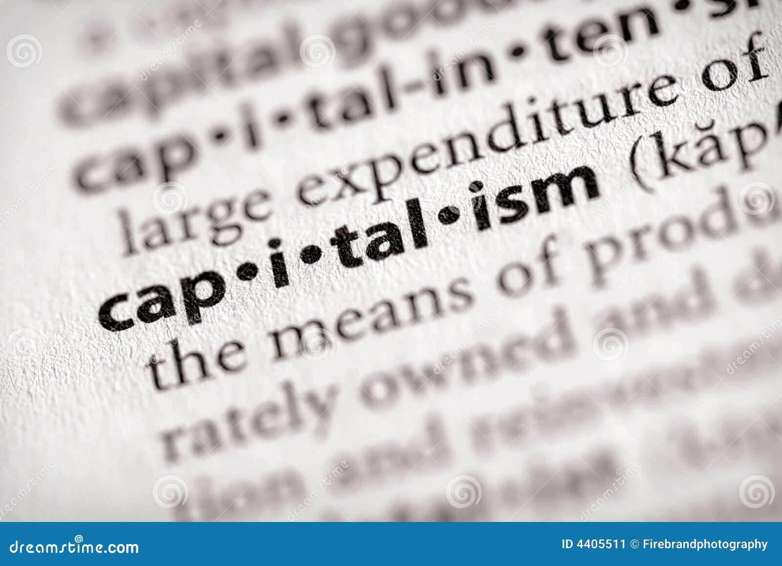 Serie del diccionario - economía: capitalismo