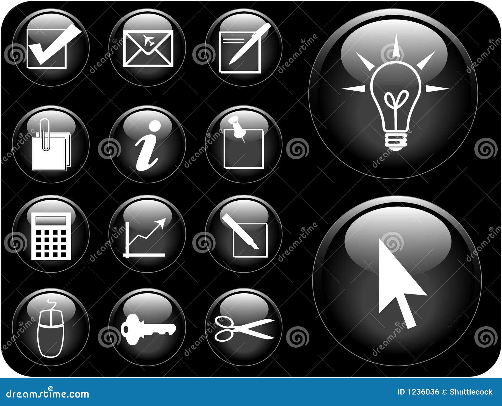 Serie del icono del vector
