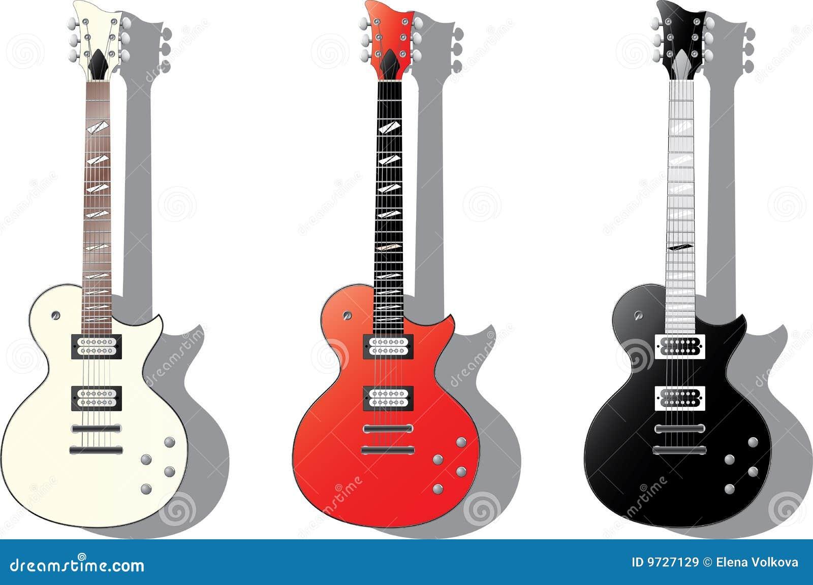 Amigurumi Guitarra Electrica : Serie Del Vector. Guitarras Electricas Imagenes de archivo ...