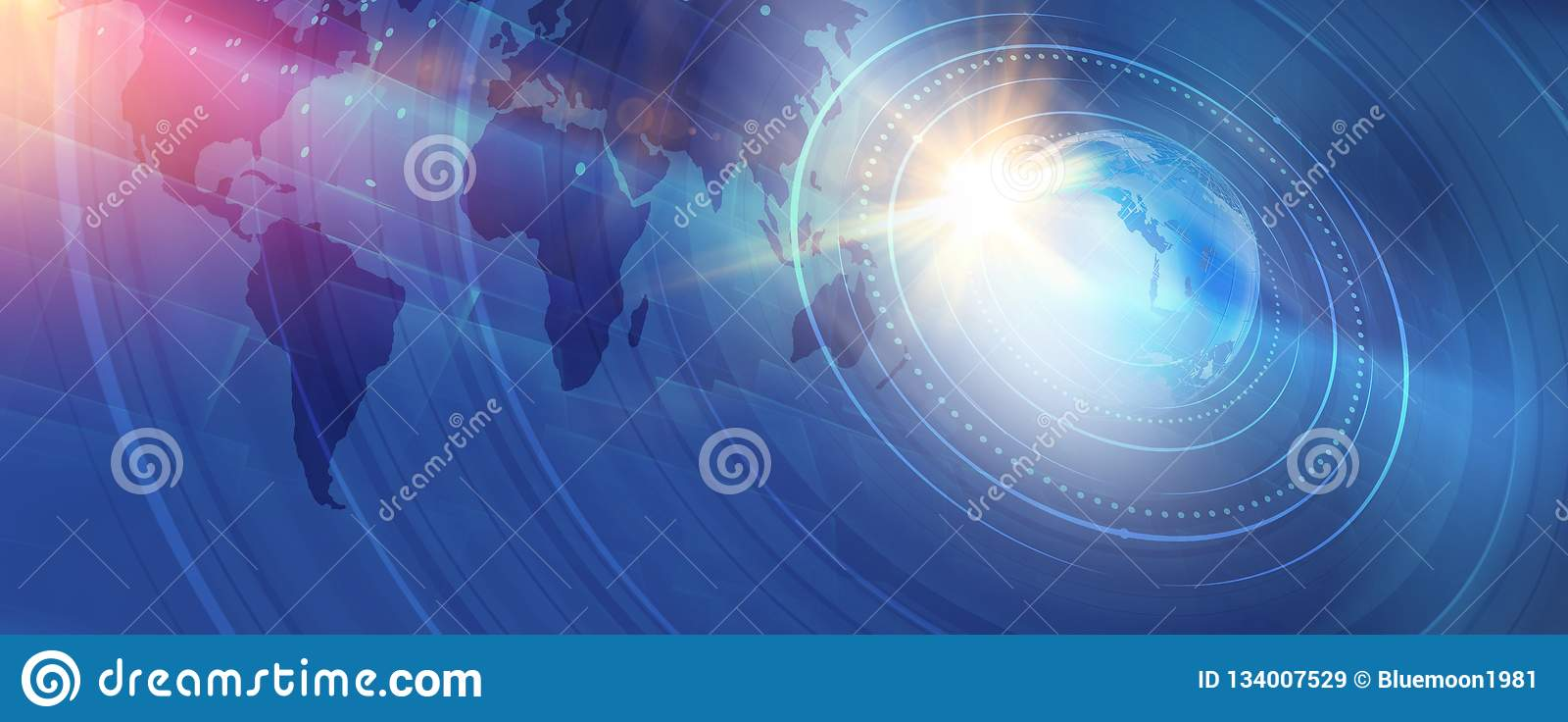 Serie digitale moderna grafica di concetto del fondo di notizie di mondo