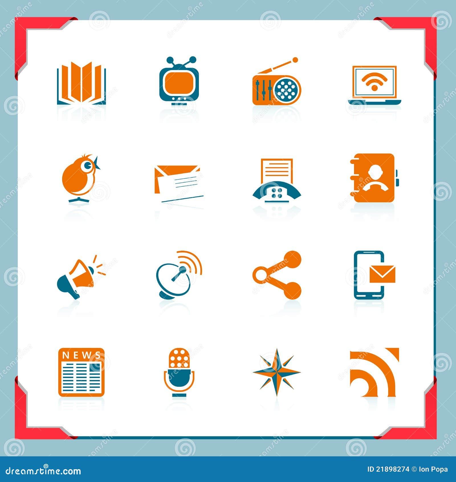 Serie för communicatonramsymboler