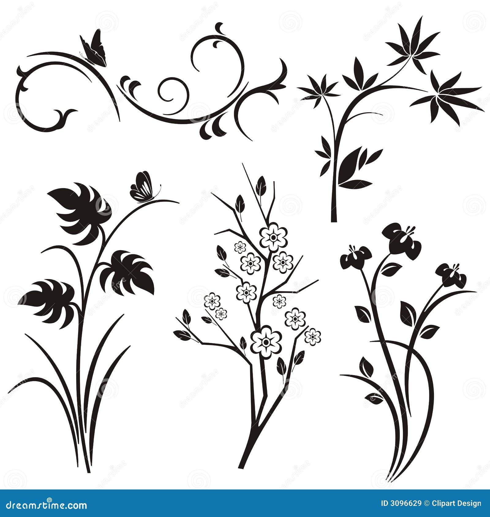 Serie giapponese di disegno floreale illustrazione for Disegni tradizionali giapponesi
