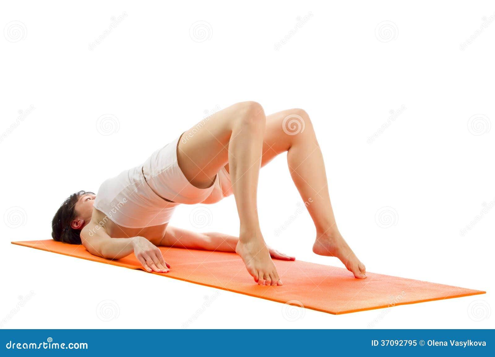 Download Serie Joga Asana Fotografie. Obraz Stock - Obraz złożonej z piękny, femaleness: 37092795