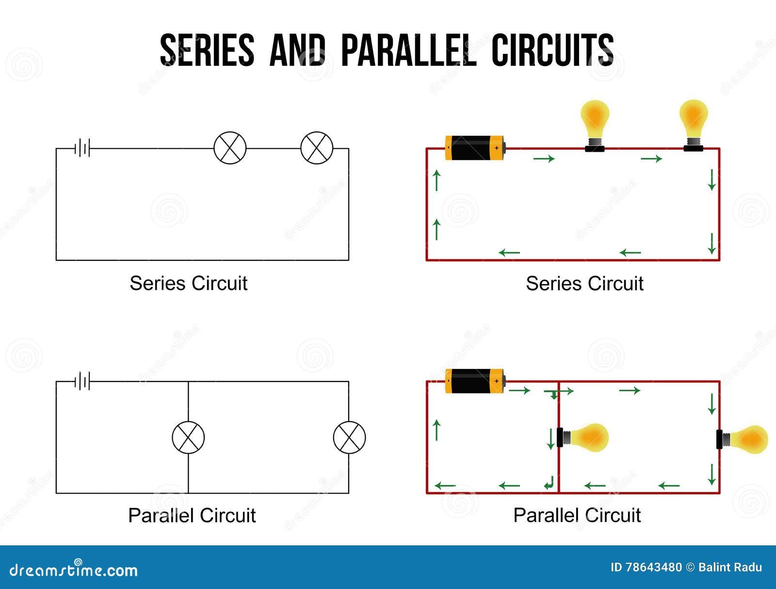 Circuito Seri E Paralelo : Serie y circuitos paralelos ilustración del vector ilustración