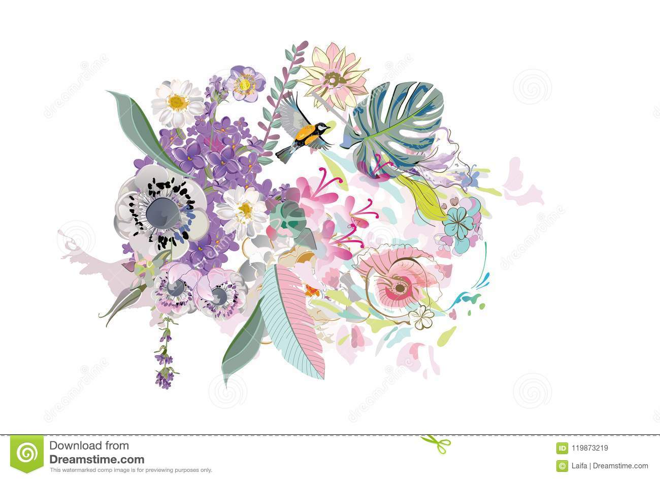Series Of Invitation Frame Backgrounds With Summer And Spring
