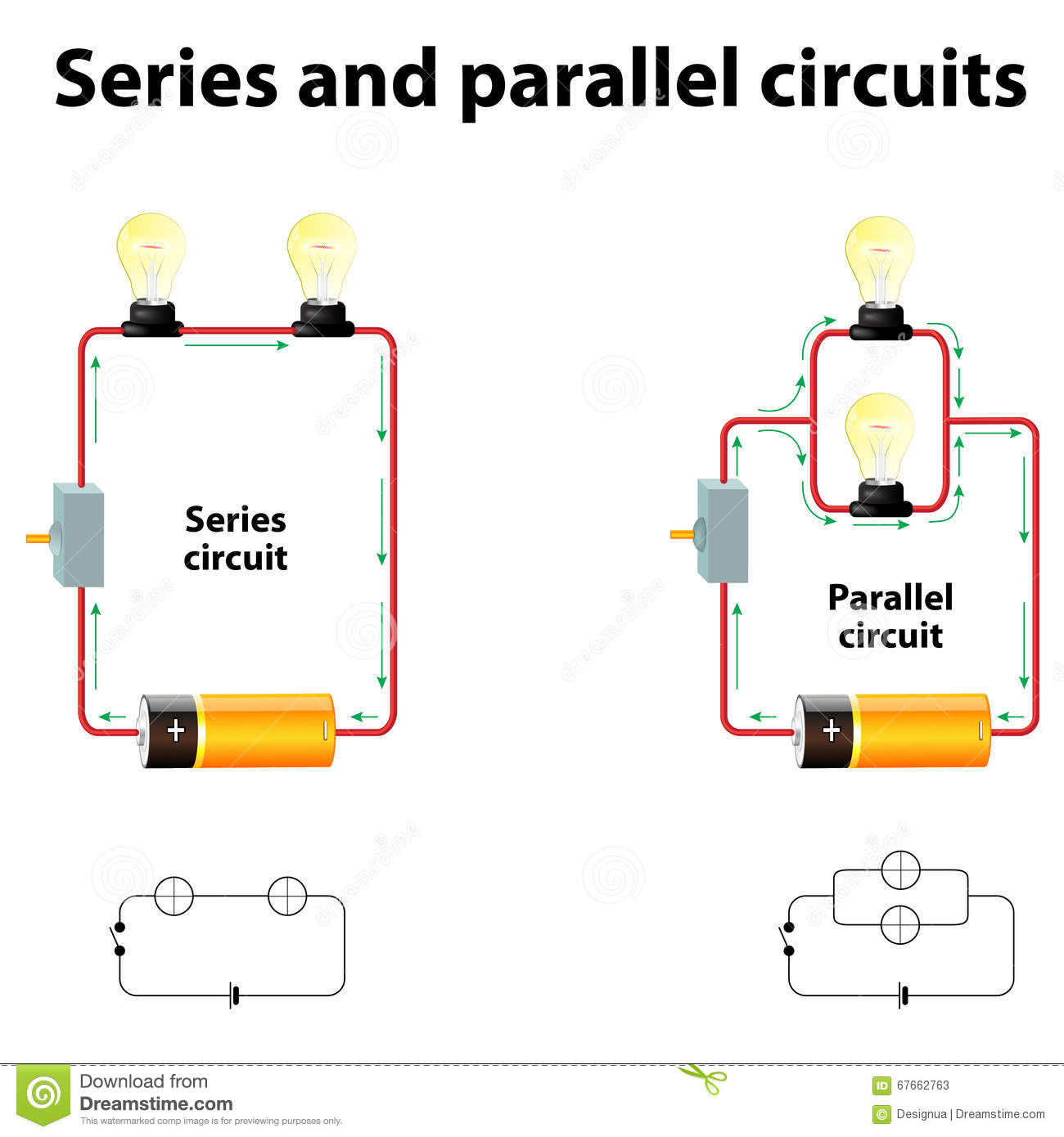 series and parallel circuits illustration 67662763 megapixl rh megapixl com series parallel circuits calculator series of parallel circuits
