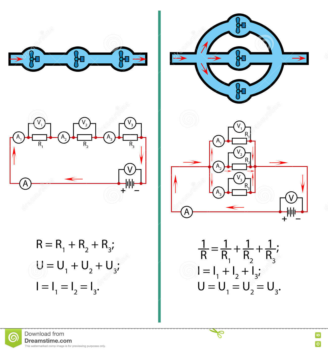 Parallel Electrical Circuit Series And Circuits For Kids Stock Image Of Electricity 1300x1390