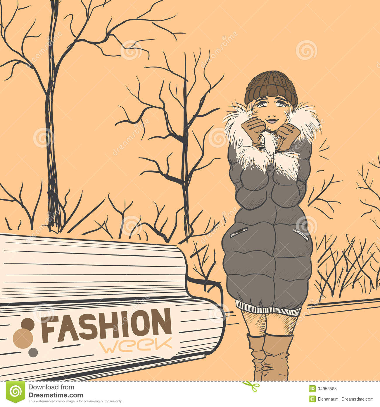 Series Urban Fashion Autumn Winter Royalty Free Stock Photo Image 34958585