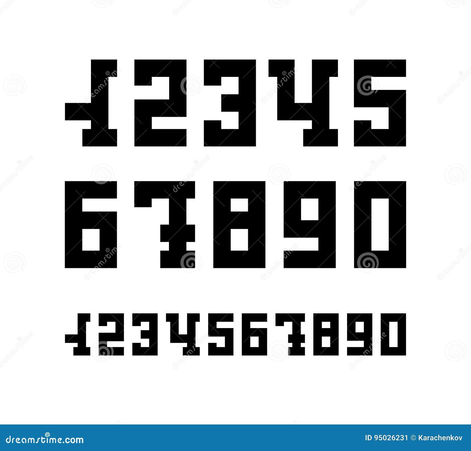 Serif chrzcielnicy liczby ikony odizolowywać na bielu