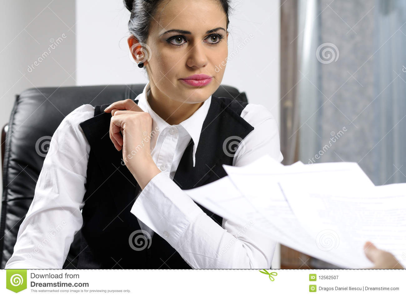 serious business w interviewing royalty stock photography serious business w interviewing