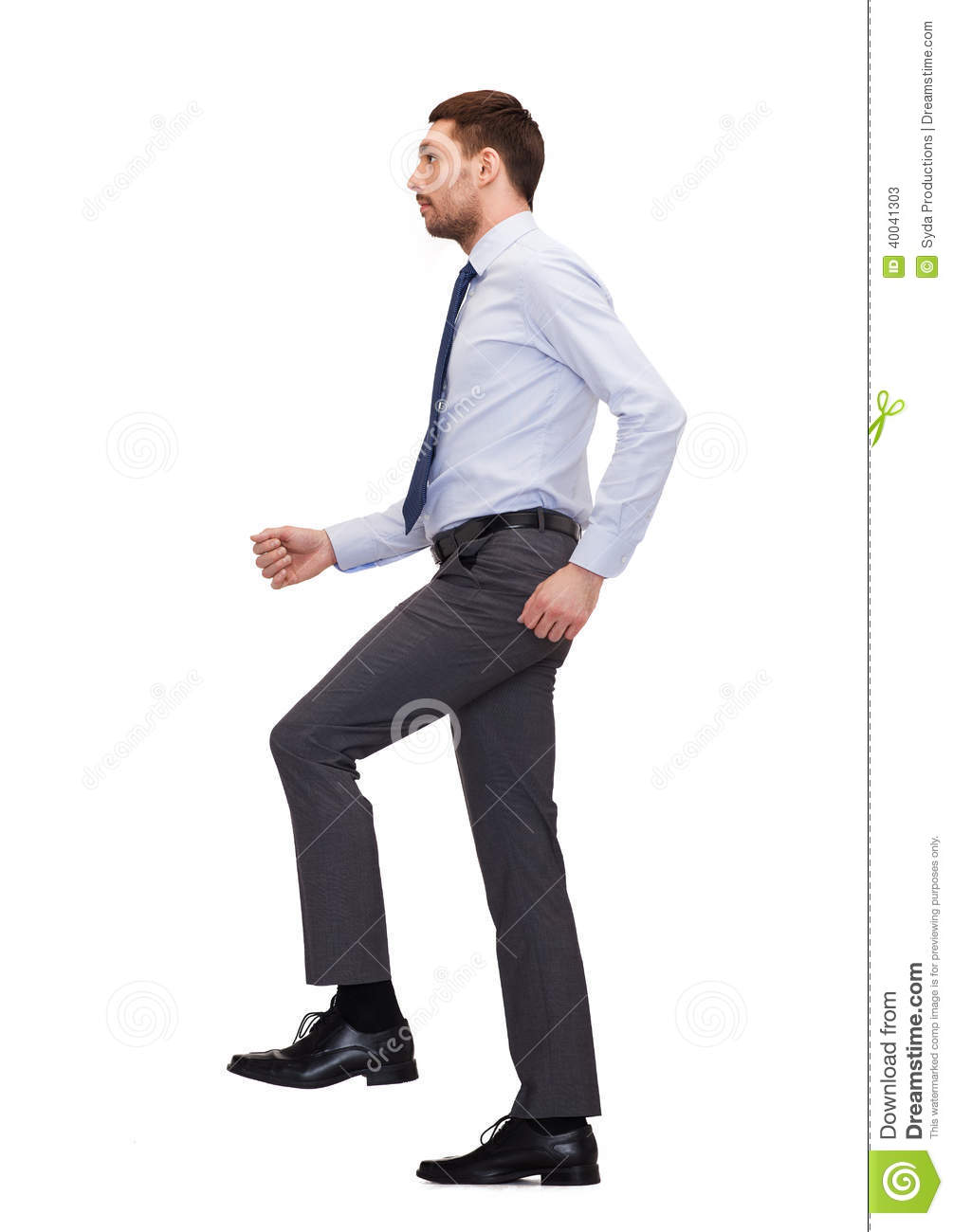 businessman is stepping over a gap from one concrete panel Cartoon Poop Dog- Walking Clip Art