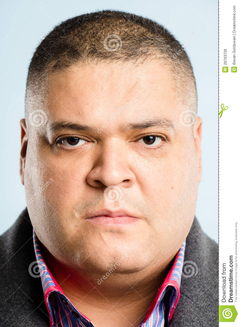 Serious Man Portrait Real People High Definition Blue