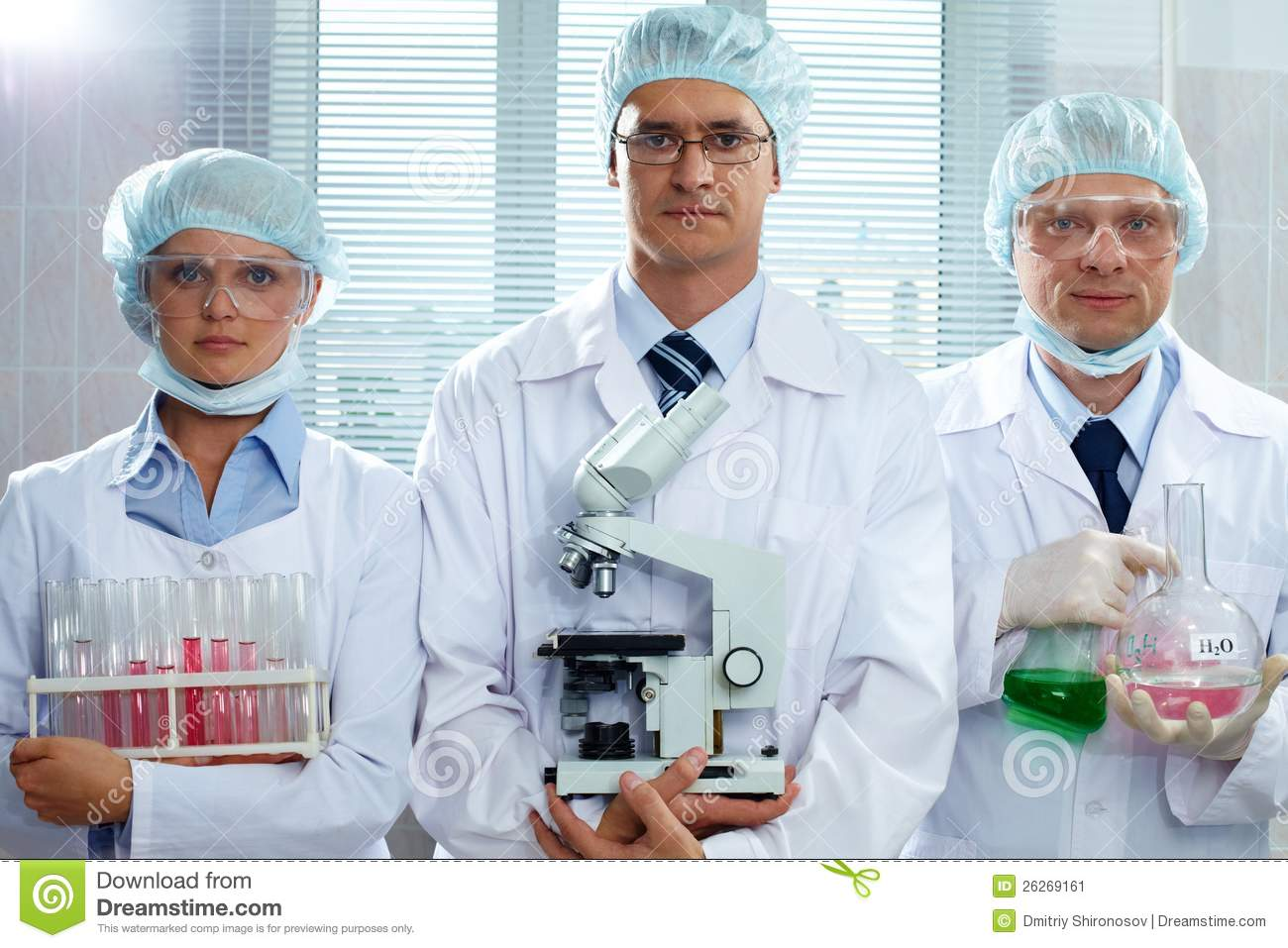 scientists serious lab renter natural holding camera equipment looking three dreamstime